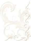 Abstrakter Hintergrund mit swirly Dekoration vektor abbildung