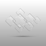 Abstrakter Hintergrund mit transparenten Elementen Lizenzfreie Stockfotos