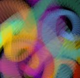 Abstrakter Hintergrund mit transparenten Formen in den Regenbogenfarben Verrückter Hintergrund für Unterhaltungsindustrieanschlag Stockfoto