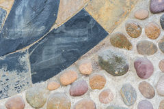 Abstrakter Hintergrund mit trockenem rundem reeble Stein Lizenzfreie Stockfotografie