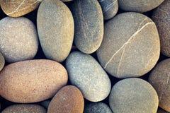Abstrakter Hintergrund mit trockenem rundem reeble Steinweinlesezauntritt Stockbilder