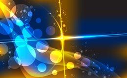 Abstrakter Hintergrund mit unscharfen Neonlichtpunkten. Lizenzfreie Stockfotos