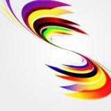 Abstrakter Hintergrund mit verbogenen Linien. Lizenzfreie Stockfotos