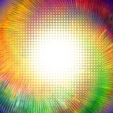 Abstrakter Hintergrund mit verschiedenen Beschaffenheiten Rotation des geometrischen Musters stock abbildung