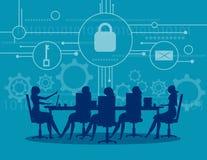 Abstrakter Hintergrund mit Verschluss und Entwurf Geschäftstreffensicherheit Konzeptgeschäft Lizenzfreie Stockfotos