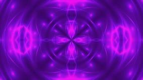 Abstrakter Hintergrund mit violettem kaleidoskopischem VJ-Fractal 3d, das digitalen Hintergrund überträgt stock footage