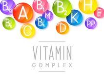 Abstrakter Hintergrund mit Vitaminen Stockfotos
