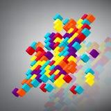 Abstrakter Hintergrund mit Würfeln 3d. Lizenzfreie Stockbilder