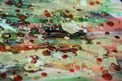 Abstrakter Hintergrund mit Wachs und Farbe Stockbild
