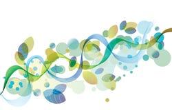 Abstrakter Hintergrund mit Welle und Blättern Lizenzfreie Stockbilder