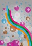 Abstrakter Hintergrund mit wellenartig bewegten Bändern Lizenzfreie Stockbilder
