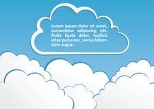 Abstrakter Hintergrund mit Wolken. Vektor Lizenzfreie Stockfotos