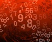 Abstrakter Hintergrund mit Zahlen Lizenzfreie Stockbilder