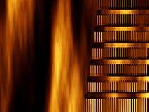 Abstrakter Hintergrund Nero gebranntes Rom vektor abbildung