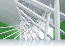 abstrakter Hintergrund-Raum Innenraum der Architektur 3d vektor abbildung