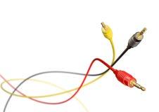 Abstrakter Hintergrund RCA-Verbinder lizenzfreie stockfotos