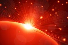 Abstrakter Hintergrund, schöne Strahlen des Lichtes Stockfotos
