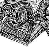 Abstrakter Hintergrund, Schwarzweiss-Verzierungen Stockbild