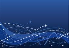 Abstrakter Hintergrund - Sterne und Wellen   stock abbildung