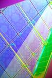 Abstrakter Hintergrund, Struktur des Glases Stockfoto