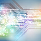 Abstrakter Hintergrund Technologie-Digital vektor abbildung