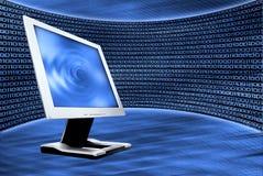 Abstrakter Hintergrund und Überwachungsgerät Lizenzfreie Stockfotos