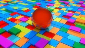 Abstrakter Hintergrund und Farben Stockbild