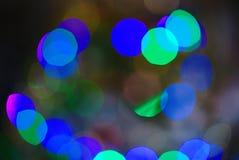 Abstrakter Hintergrund, Unschärfe bokeh Effekt, Weihnachtslichtflecke stockfotos