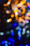 Abstrakter Hintergrund, Unschärfe bokeh Effekt, Weihnachtslichtflecke stockfotografie