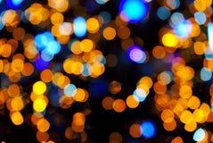 Abstrakter Hintergrund, Unschärfe bokeh Effekt, Weihnachtslichtflecke lizenzfreies stockfoto