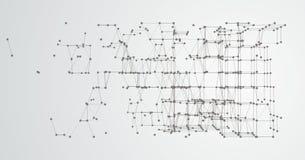 Abstrakter Hintergrund verbundener Dots Cube Stockfotos