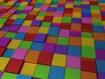 Abstrakter Hintergrund - verschiedene Farbenwürfel vektor abbildung
