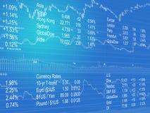 Abstrakter Hintergrund von Bargeld-Daten Lizenzfreie Stockbilder