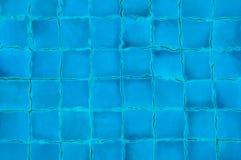 Abstrakter Hintergrund von blauen Fliesen Lizenzfreie Stockfotografie