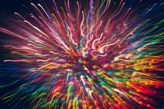 Abstrakter Hintergrund von bunten Linien in der Bewegung Stockbilder