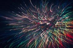 Abstrakter Hintergrund von bunten Linien in der Bewegung Stockfotografie