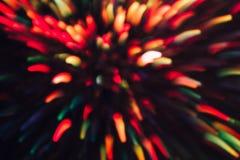 Abstrakter Hintergrund von bunten Linien in der Bewegung Stockfotos