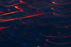 Abstrakter Hintergrund von bunten Linien in der Bewegung Lizenzfreie Stockfotos