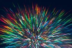 Abstrakter Hintergrund von bunten Linien in der Bewegung Lizenzfreie Stockfotografie