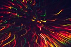 Abstrakter Hintergrund von bunten Linien in der Bewegung Stockfoto
