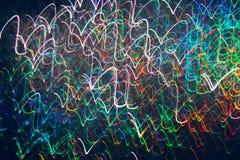 Abstrakter Hintergrund von bunten Wellen in der Bewegung Stockfotos