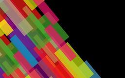 Abstrakter Hintergrund von den geometrischen Zahlen. Lizenzfreie Stockbilder