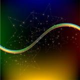 Abstrakter Hintergrund von den magischen Sternen Lizenzfreie Stockfotos