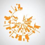 Abstrakter Hintergrund von den orange Quadraten Stockbilder