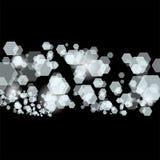 Abstrakter Hintergrund von den transparenten Hexagonen Stockbilder