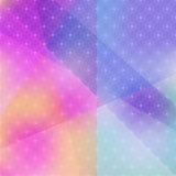 Abstrakter Hintergrund von Farbflecken mit geometrischer Beschaffenheit Lizenzfreie Stockbilder