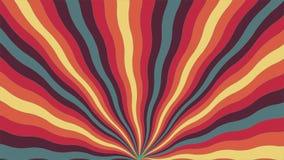 Abstrakter Hintergrund von gebogenen Farblinien lizenzfreie abbildung