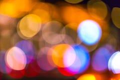 Abstrakter Hintergrund von Großstadtlichtern lizenzfreies stockfoto