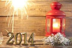 abstrakter Hintergrund von 2014 guten Rutsch ins Neue Jahr Lizenzfreies Stockbild