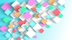 Abstrakter Hintergrund von klebrigen mehrfarbigen Papieraufklebern Leichte ruhige Töne stock abbildung